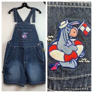 Disney Eeyore sturdy cotton denim shorts overalls